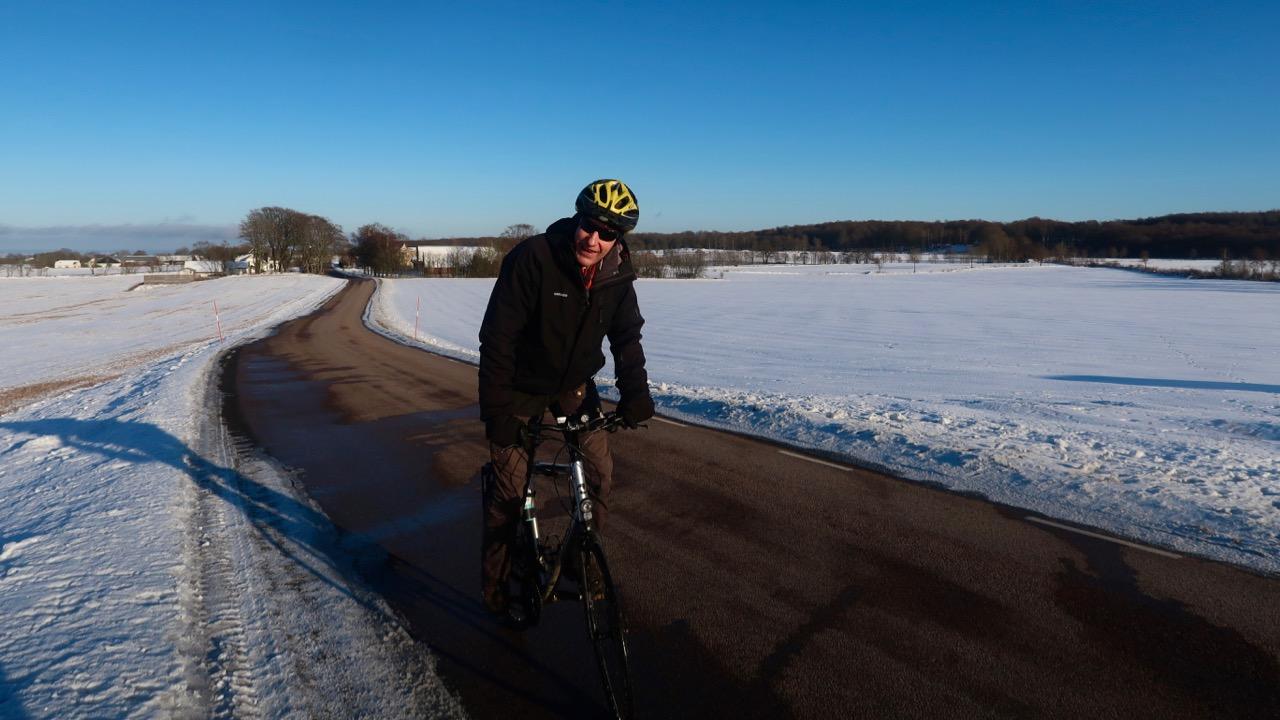 Vintercykling Bjäre Sven