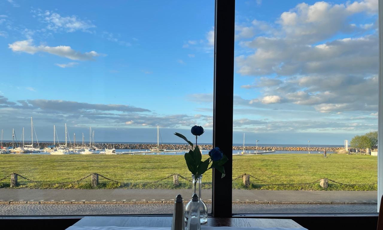 Utsikt från restaurangen på Hotell Svea