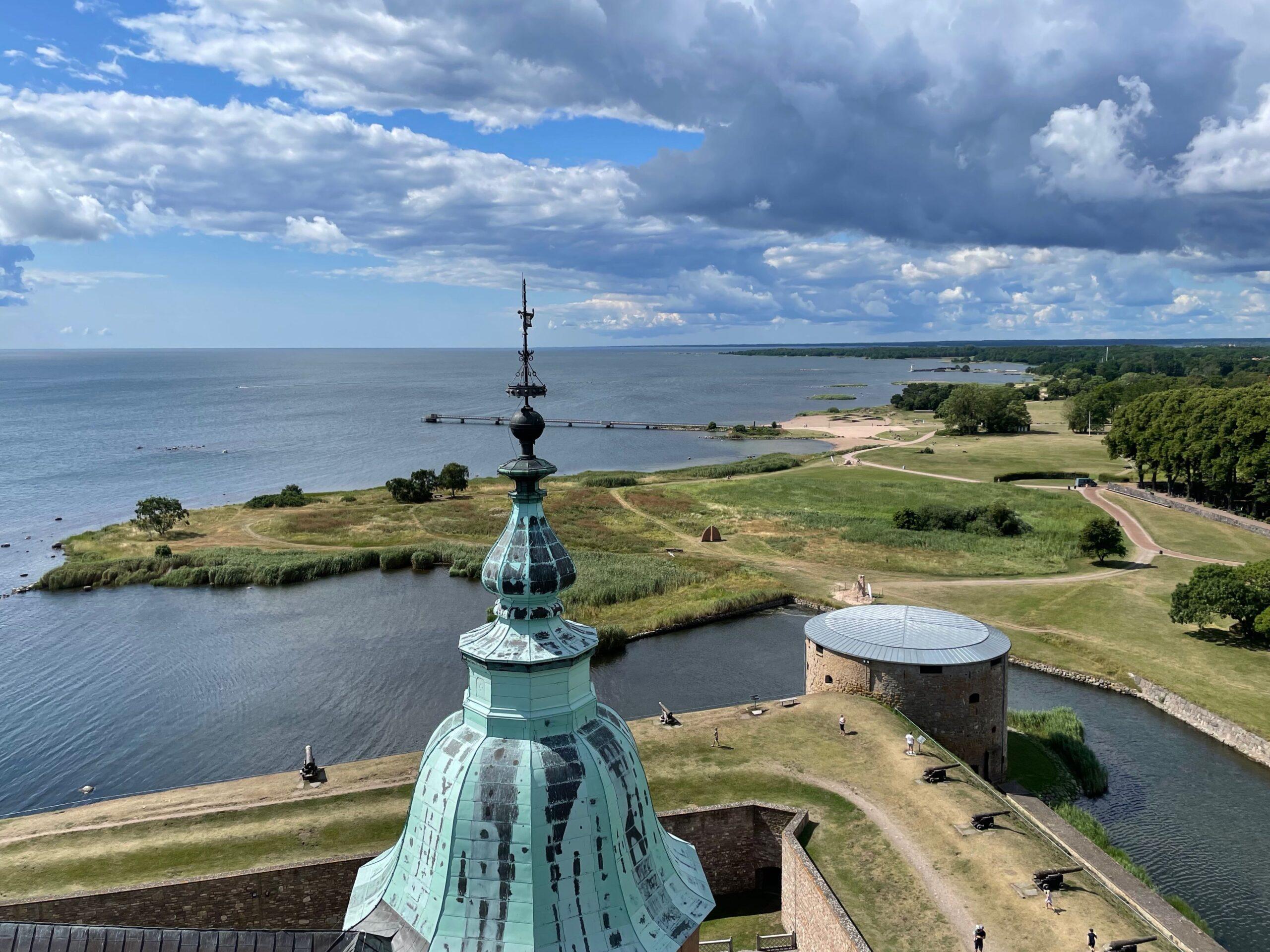 Utsikt från Kuretornet på Kalmar slott